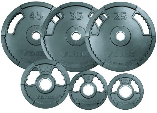 York 2″ G-2 Rubber Olympic Plate