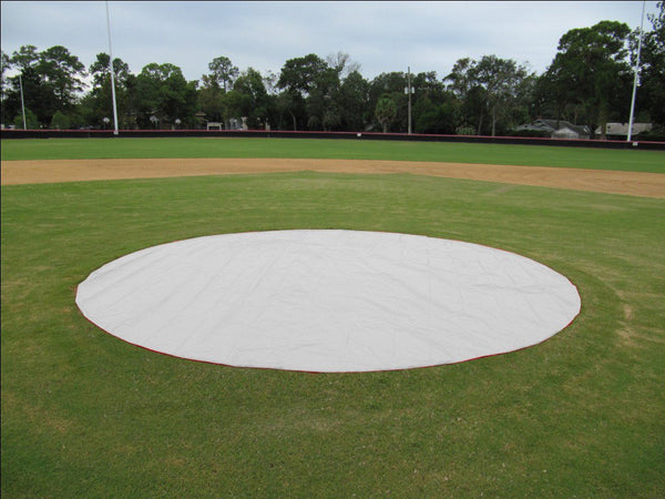 Baseball Field Silver 6oz Poly Spot Covers (UnWeighted)