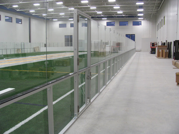 Aluminum / Glass Dasher Board System for 8'H Indoor Soccer (price per linear ft)