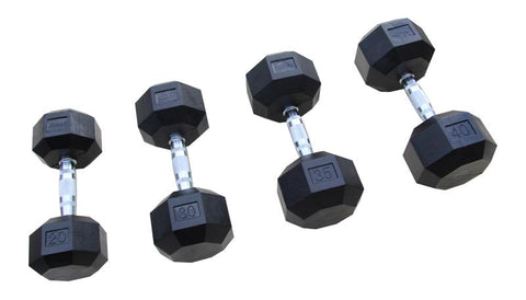 Kodiak 8-Sided Premium Rubber Encased Dumbbells