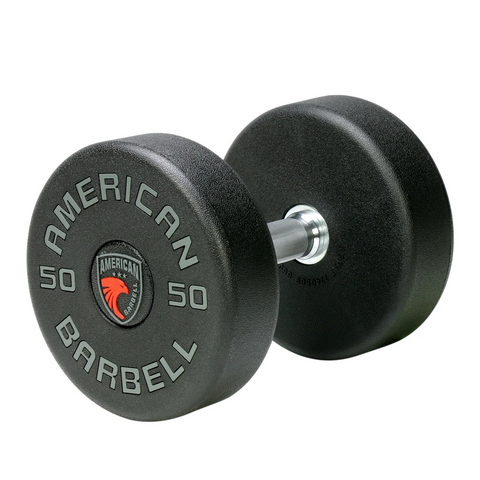 American Barbell Series 1 Round Heavy Commercial Urethane Encased Dumbbell