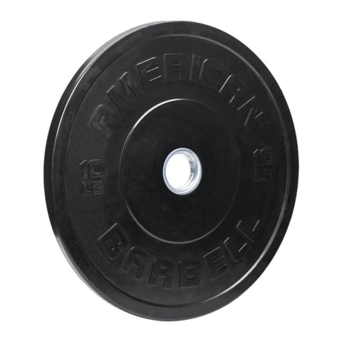 American Barbell Sport Rubber BLACK Bumper Plates (lbs)