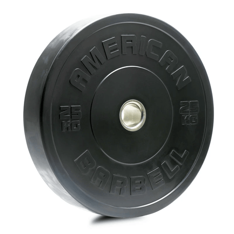 American Barbell Sport Rubber BLACK Bumper Plates (KG)
