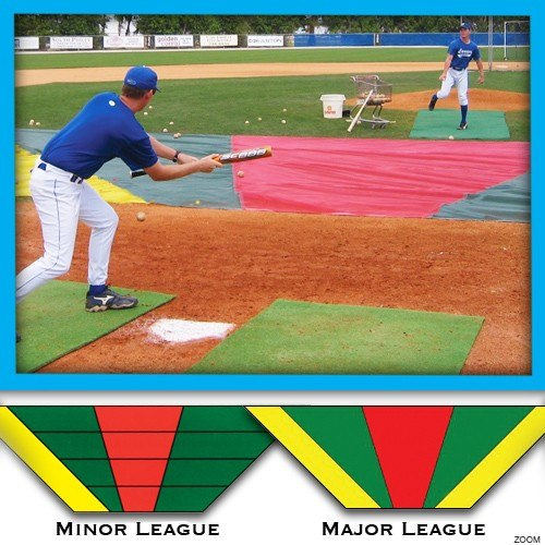 Bunt Zone® Infield Mesh Protector and Bunt Training Zone