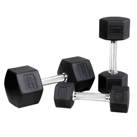 American Barbell Premium Rubber Pro Handle Hex Dumbbell