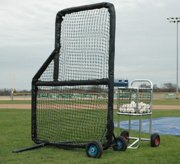 Kodiak 5' x 8' Pro Mini Padded Wheeled L-Screen - Kodiak Sports, LLC