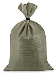Woven Polypropylene Sandbags for Field Covers (100 Pack)