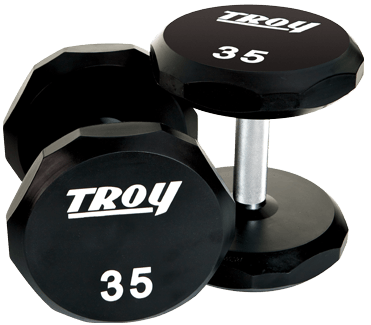 Troy 12-Sided Urethane Encased Dumbbell (no logo)