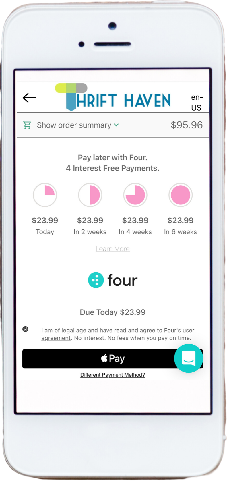 Pay with four
