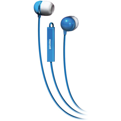 Maxell Stereo In-ear Earbuds With Microphone & Remote (blue)