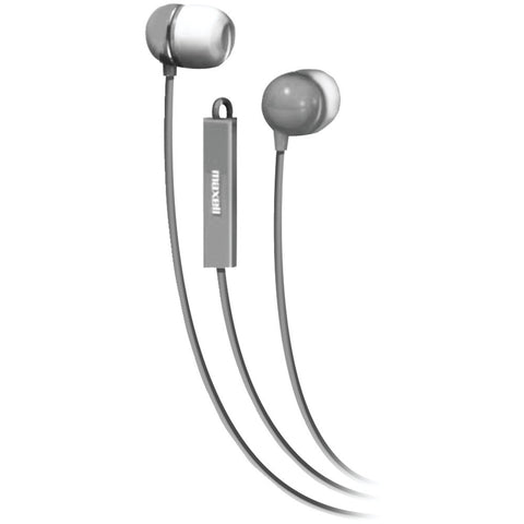 Maxell Stereo In-ear Earbuds With Microphone & Remote (silver)
