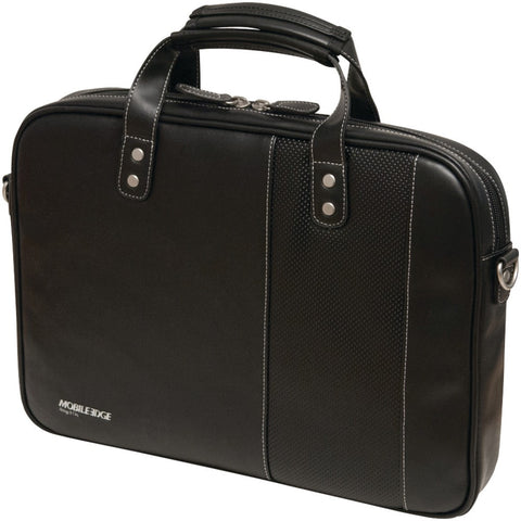 "Mobile Edge 13"" & 14.1"" Tablet & Notebook Slimline Briefcase ( Black With White Stitching)"