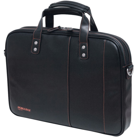 "Mobile Edge 13"" & 14.1"" Tablet & Notebook Slimline Briefcase (black With Orange Stitching)"