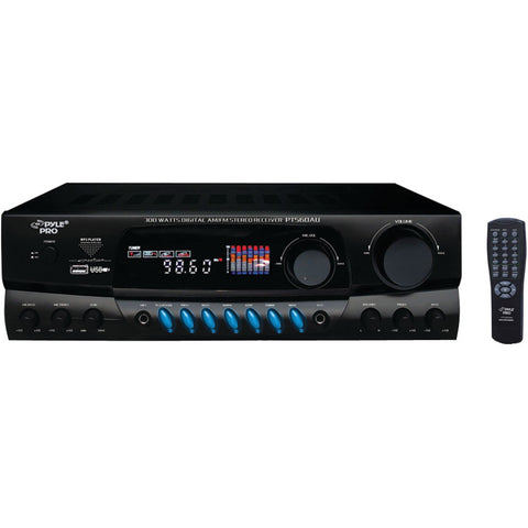 Pyle 300-watt Digital Am And Fm And Usb Stereo Receiver