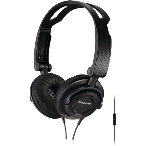 Panasonic Foldz Collapsible Travel Headphones With Microphone (black)