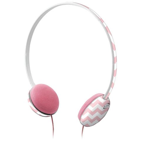 Ilive Volume-limiting Headphones (pink And White)