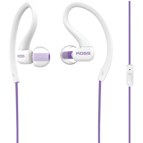 Koss Ksc32i Fitclips Earbuds With Microphone (violet)