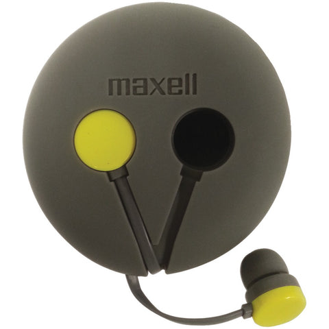Maxell Wrap'd Earbuds With Microphone & Case