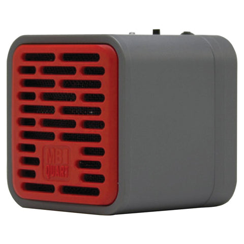 Mb Quart Single-driver Bluetooth Speaker (gray Body & Red Grille)
