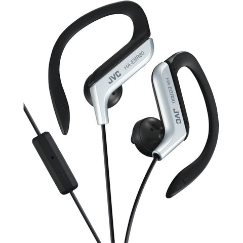 Jvc Sport-clip In-ear Ear-clip Headphones With Microphone & Remote (silver)