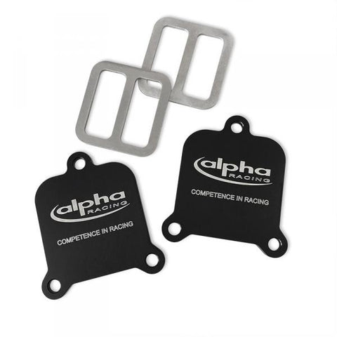 Alpha Racing Smog Pair Block Off Plates for BMW S1000RR 2019 2020