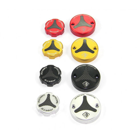 Ducabike Carbon Front Brake and Clutch Fluid Reservoir Cap Set for Panigale