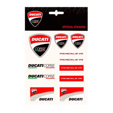 Ducati Corse Official Panigale V4 Crest Shield Logo Sticker Decal Kit