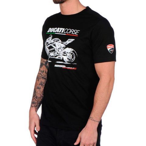 Ducati Corse Panigale Official MotoGP Official T-Shirt - Black