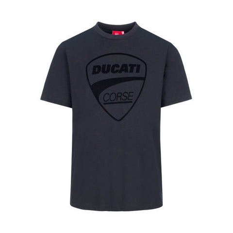 Ducati Corse Logo Tonal Official MotoGP Race Team T-Shirt - Black