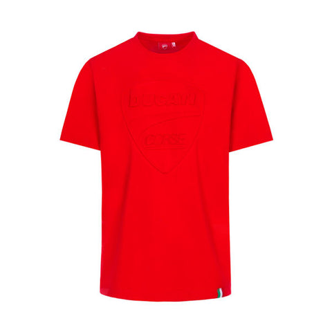 Ducati Corse Logo Tonal Official MotoGP Race Team T-Shirt - Red