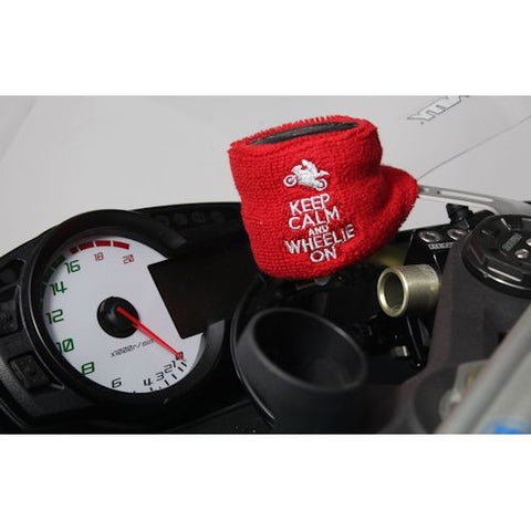 Keep Calm and Wheelie On Brake Reservoir Cover