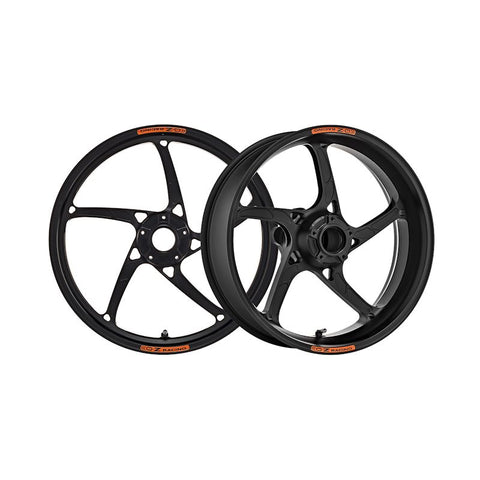 OZ Racing Piega R Forged Aluminum Wheel Set Anodized Black for Yamaha R1 / R1S / R1M