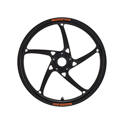OZ Racing Piega R Forged Aluminum Wheel Set Anodized Black for BMW S1000RR / HP4