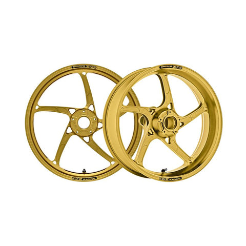 OZ Racing Piega R Forged Aluminum Wheel Set Anodized Gold for BMW S1000RR / HP4