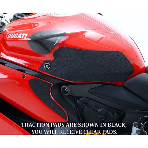 R&G Racing EaziGrip Clear Tank Traction Grip Pads for 899 959 1199 1299 S R
