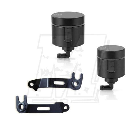 Rizoma Notch Front Reservoir Kit with Brackets for Panigale V4 V4S V4R