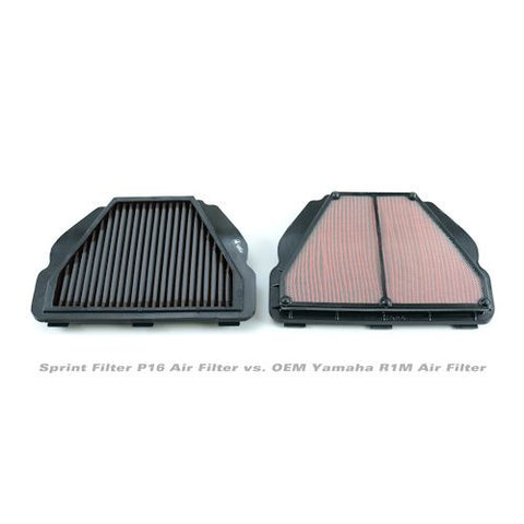 Sprint Filter P16 Race Only Performance Air Filter For Yamaha R1 R1S R1M