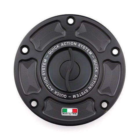 TWM Quick Action CNC Aluminum Gas Cap for Aprilia - TAPR.02