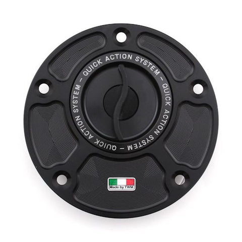 TWM Quick Action CNC Aluminum Gas Cap for Ducati - TDPR.01