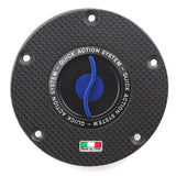 TWM Quick Action Carbon Fiber Gas Cap for Ducati - TDFP.06
