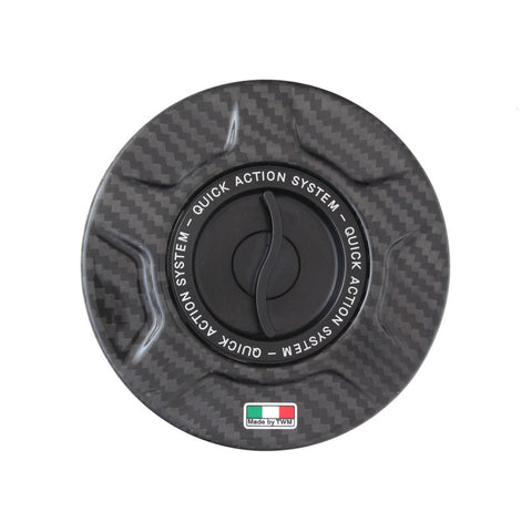 TWM Quick Action Carbon Fiber Gas Cap for Ducati - TDF.06