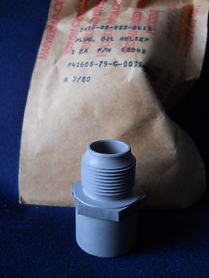 One (1) NEW Lycoming 68048 Oil Relief Plug|Un (1) Lycoming 68048 Tapón Reductor de Aceite (Nuevo)