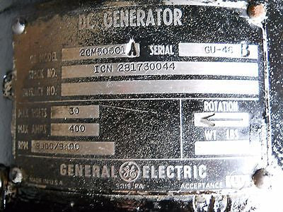One (1) GE DC Generator 2CM505C1A Overhauled - NO CORE CHARGE!