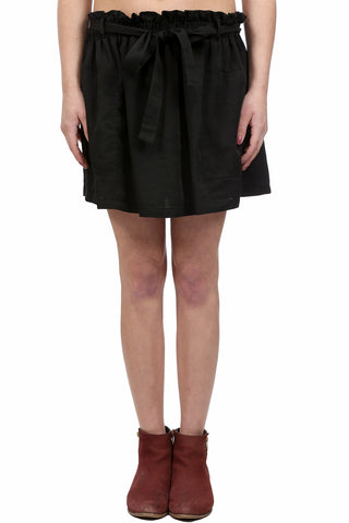 SAFARI TENCEL CARGO SKIRT - BLACK