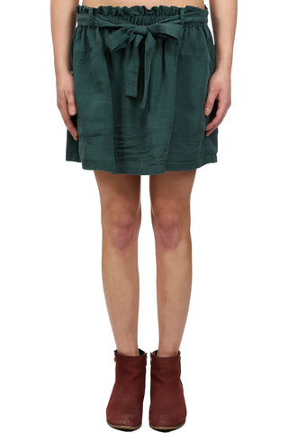 SAFARI TENCEL CARGO SKIRT - HUNTER GREEN