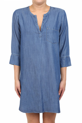 BAHIA TENCEL PLACKET POCKET TUNIC - MEDIUM