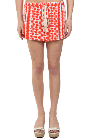 WATERCOLOR TASSLE SHORT - RED
