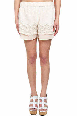 SIMPLY LOVELY EMBROIDERED CROCHET SHORT - AS IS