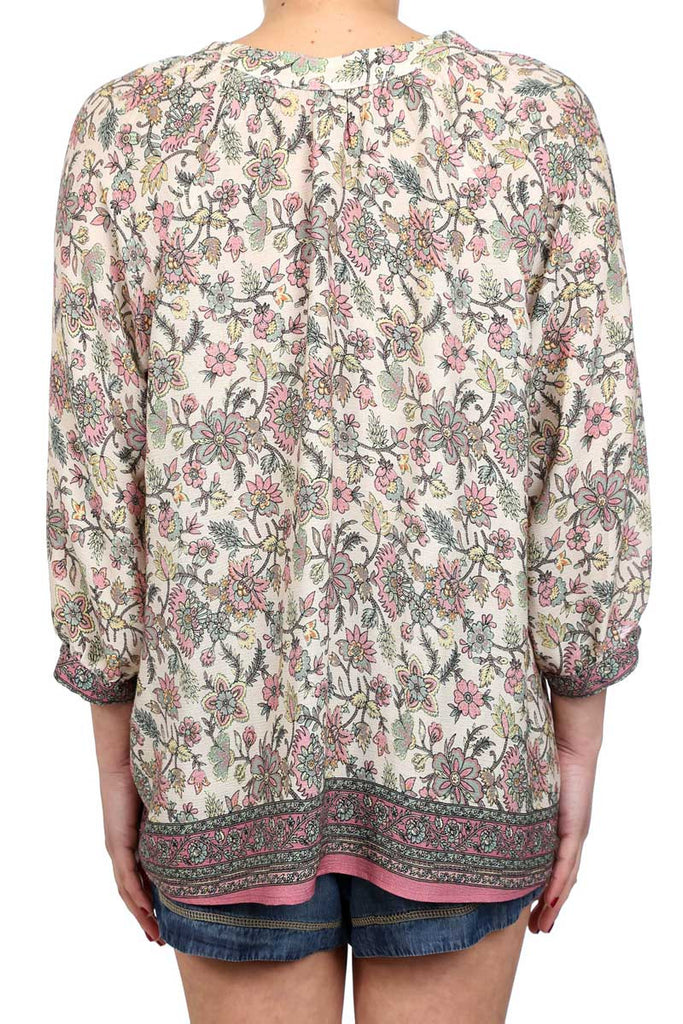 SAND DUNE FLOARL PEASANT BLOUSE - AS IS