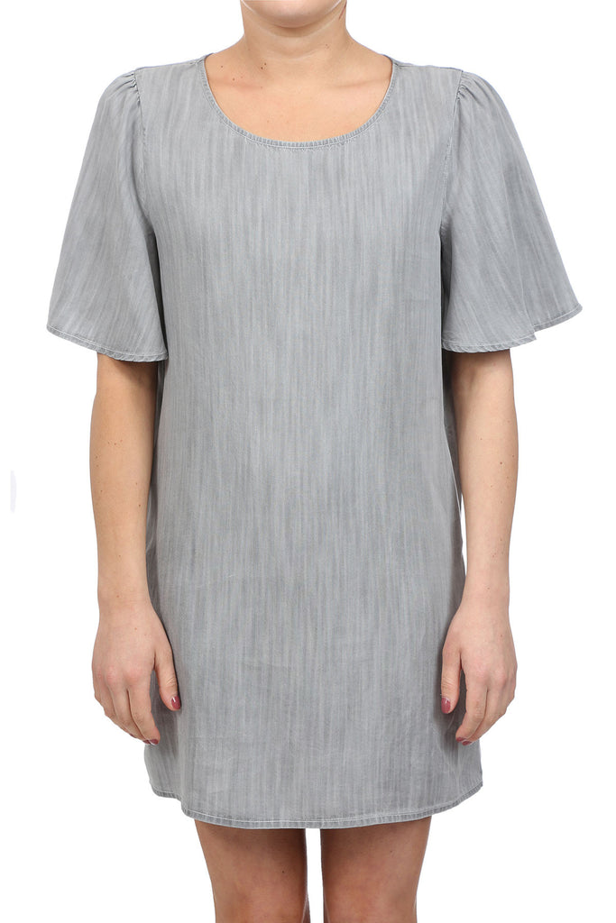RURAL TENCEL POCKET DRESS - LIGHT GREY